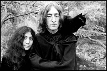 John Lennon Yoko Ono Pepper the cat