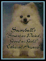 Snowballs' Good as Gold Award