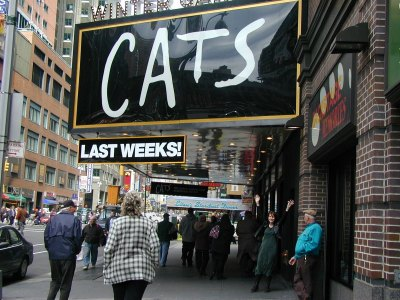 Cats at the Winter Garden Theater
