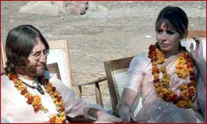 John & Cynthia Lennon in India