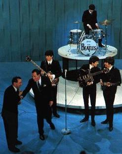 The Beatles performing on The Ed Sullivan Show