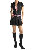 black punk mini dress