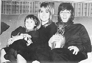 John Lennon with Cynthia & Julian