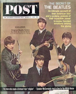 The Beatles on the cover of the Saturday Evening Post