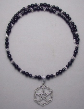 Sterling Silver Victorian style Pentacle Necklace