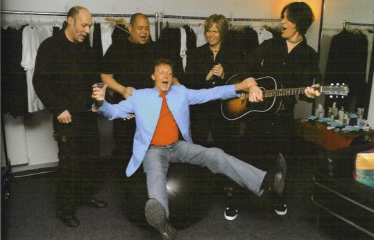 Paul McCartney and his band