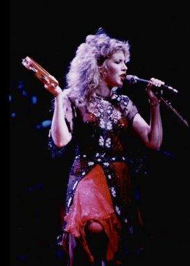 Stevie Nicks in red and black