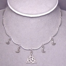 sterling silver charmed triquetra necklace