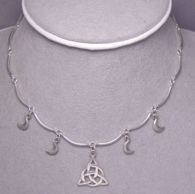 sterling silver charmed necklace