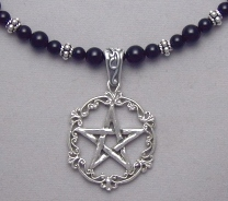 sterling silver filigree pentacle necklace