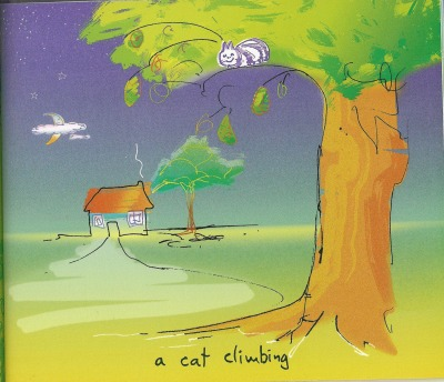 a cat climbing by john lennon