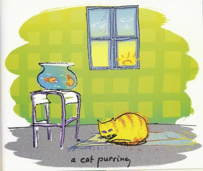 a cat purring by john lennon