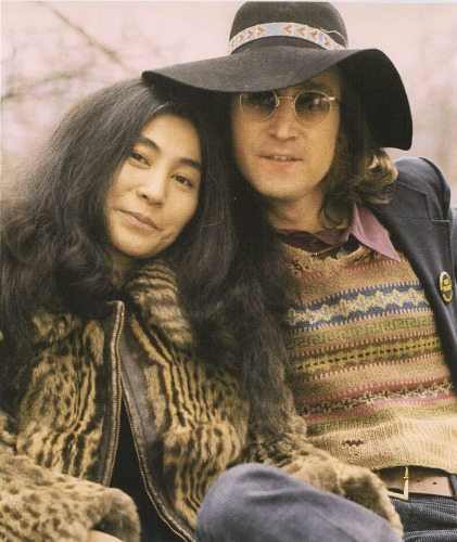John Lennon and Yoko Ono in New York City