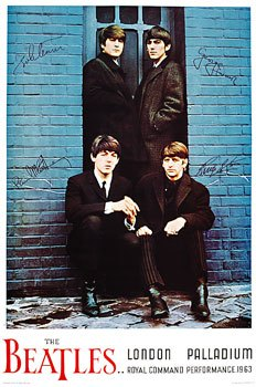 The Beatles at the London Palladium poster